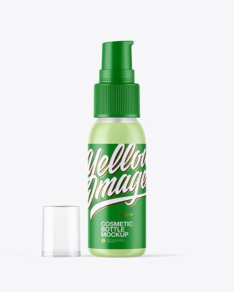Download Cosmetic Frosted Bottle Psd Mockup Yellowimages
