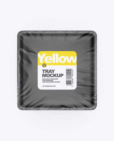 Download Tray Fish Psd Mockup Yellow Images