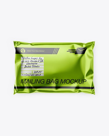 There are so many free gift bag mockup out there it's hard to know where to begin. Metallic Mailing Bag Mockup Top View In Bag Sack Mockups On Yellow Images Object Mockups