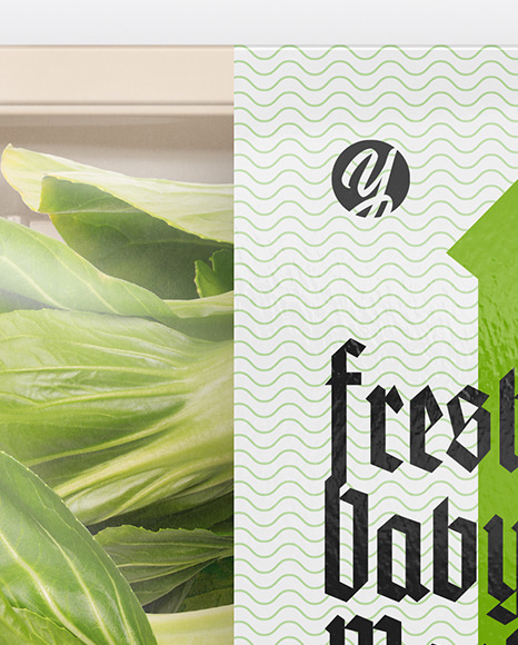 Download Plastic Bag With Bok Choy Psd Mockup Yellowimages