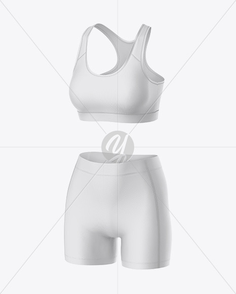 Download Basketball Reversible Mesh Short Mockup Back Half Side View Yellow Images