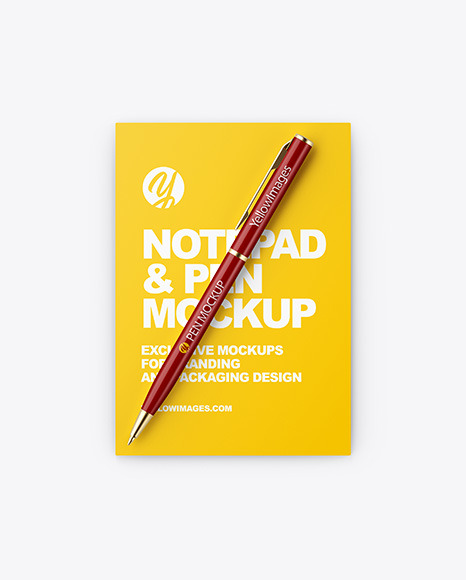 Download Workbook With Matte Transparent Cover Psd Mockup Yellow Images