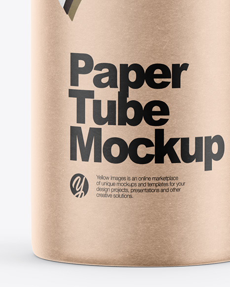 Download Opened Glossy Paper Tube Yellowimages