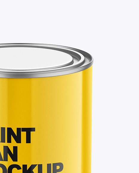 Download Glossy Paint Cans Psd Mockup Yellow Images