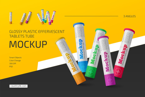 Download 35 Ml Plastic Pills Bottle Psd Mockup Yellowimages