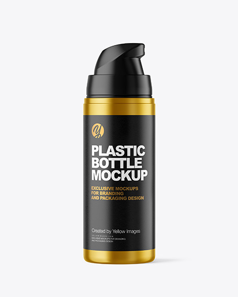 Download Airless Pump Bottle Mockup Yellow Images