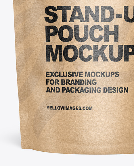 Download Mockup Sachet Kraft Yellow Images