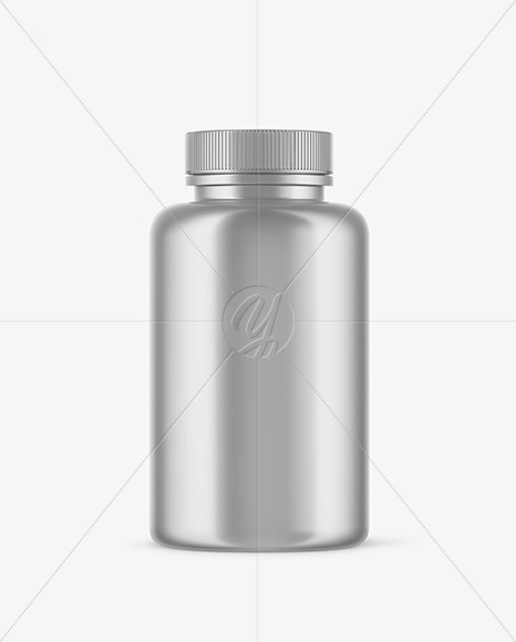 Download Metallic Plastic Bottle With Pump Psd Mockup Yellowimages