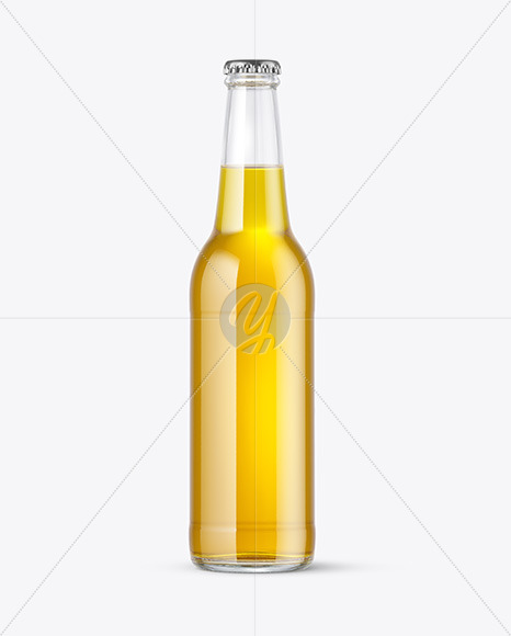 Download Green Glass Beer Bottle With Condensation Psd Mockup Yellowimages