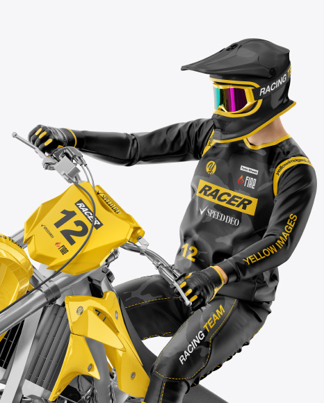 Download Motorcycle Jersey Mockup