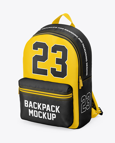 Download Backpack Mockup Front View Yellow Images