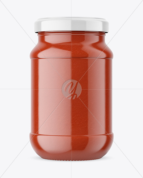 Download Glass Spice Jar Transparent Cap Psd Mockup Yellowimages