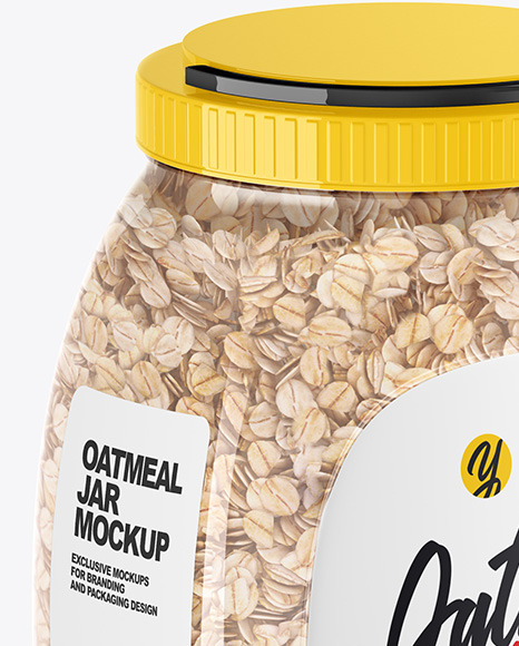 Download Jar With Oat Psd Mockup Yellow Images