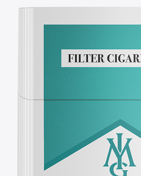 Download Paper Cigarette Pack Mockup in Box Mockups on Yellow ...