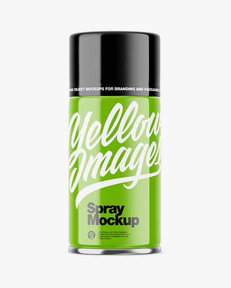 Download Green Spray Bottle Psd Mockup Yellowimages