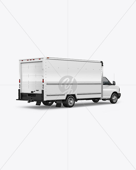 Download Box Truck Mockup - Back HalfSideView in Vehicle Mockups on ...