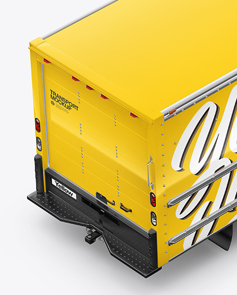 Download Box Truck Mockup - Top Back HalfSideView in Vehicle ...