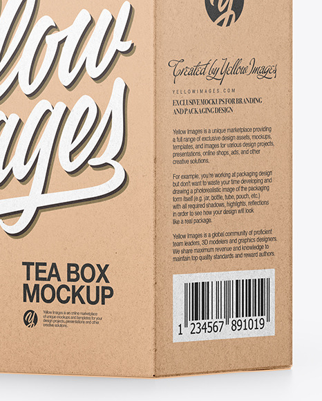 Download Box Package Design Mockup Yellow Images