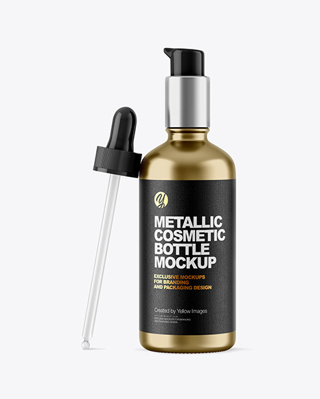 Download 30ml Metallic Dropper Bottle Psd Mockup Yellowimages
