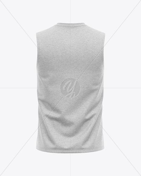 Download Baseball Sleeveless Shirt Mockup Back View Yellowimages