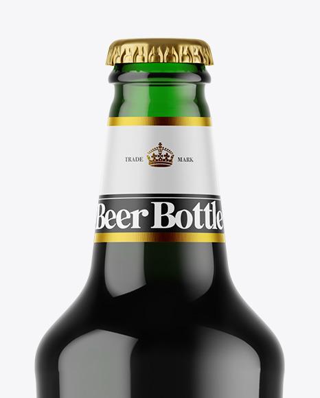 Download Black Beer Bottle Mockup Yellowimages