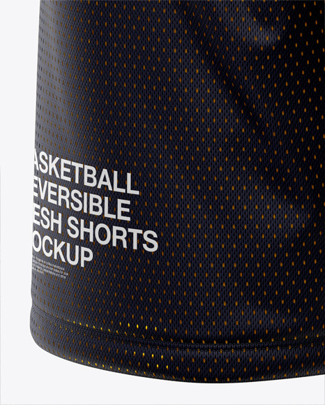 Download Basketball Reversible Mesh Jersey Mockup Back Half Side View Yellow Images
