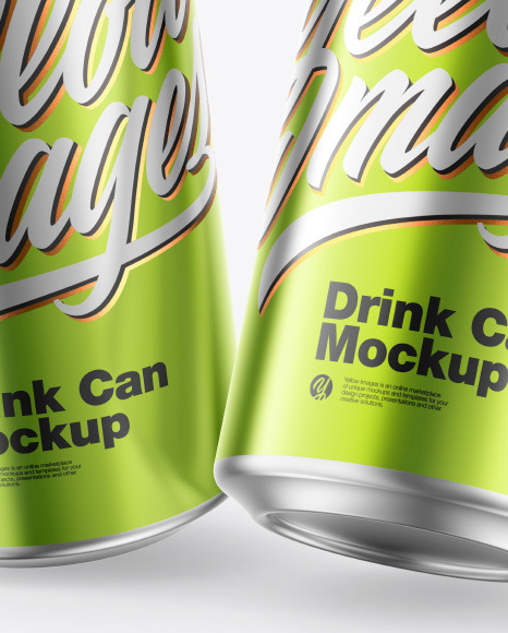 Download Glossy Cans Psd Mockup Yellowimages