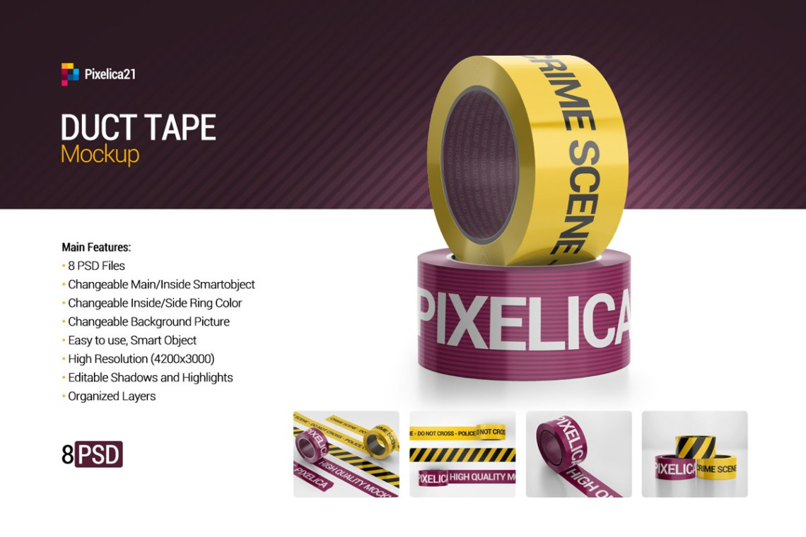 Download Scotch Tape Psd Poster Mockup Yellowimages