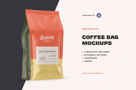 Download Black Coffee Bag Mockup Free Yellowimages