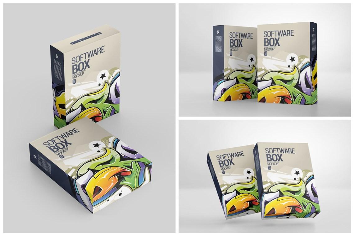 Download Software Box Mockup Yellow Images