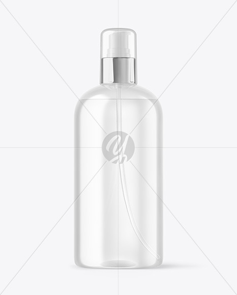 Download Plastic Cosmetic Bottle With Box Psd Mockup Yellowimages