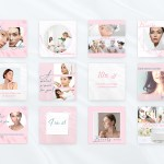 40 Beauty Pink Instagram Canva Tempates Rosy Post Stories Highlights In Social Media Templates On Yellow Images Creative Store
