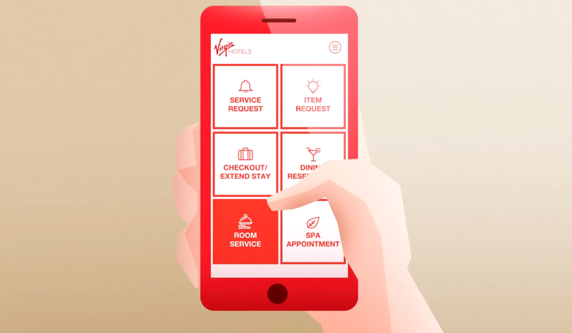 appli mobile Virgin Hotels