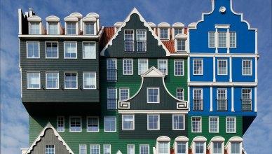 hotel Inntel Zaadam destaca por su originalidad arquitectónica, un hotel de 160 habitaciones para disfrutar de un viaje realmente diferente