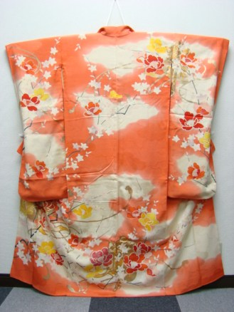 Orange Furisode Back