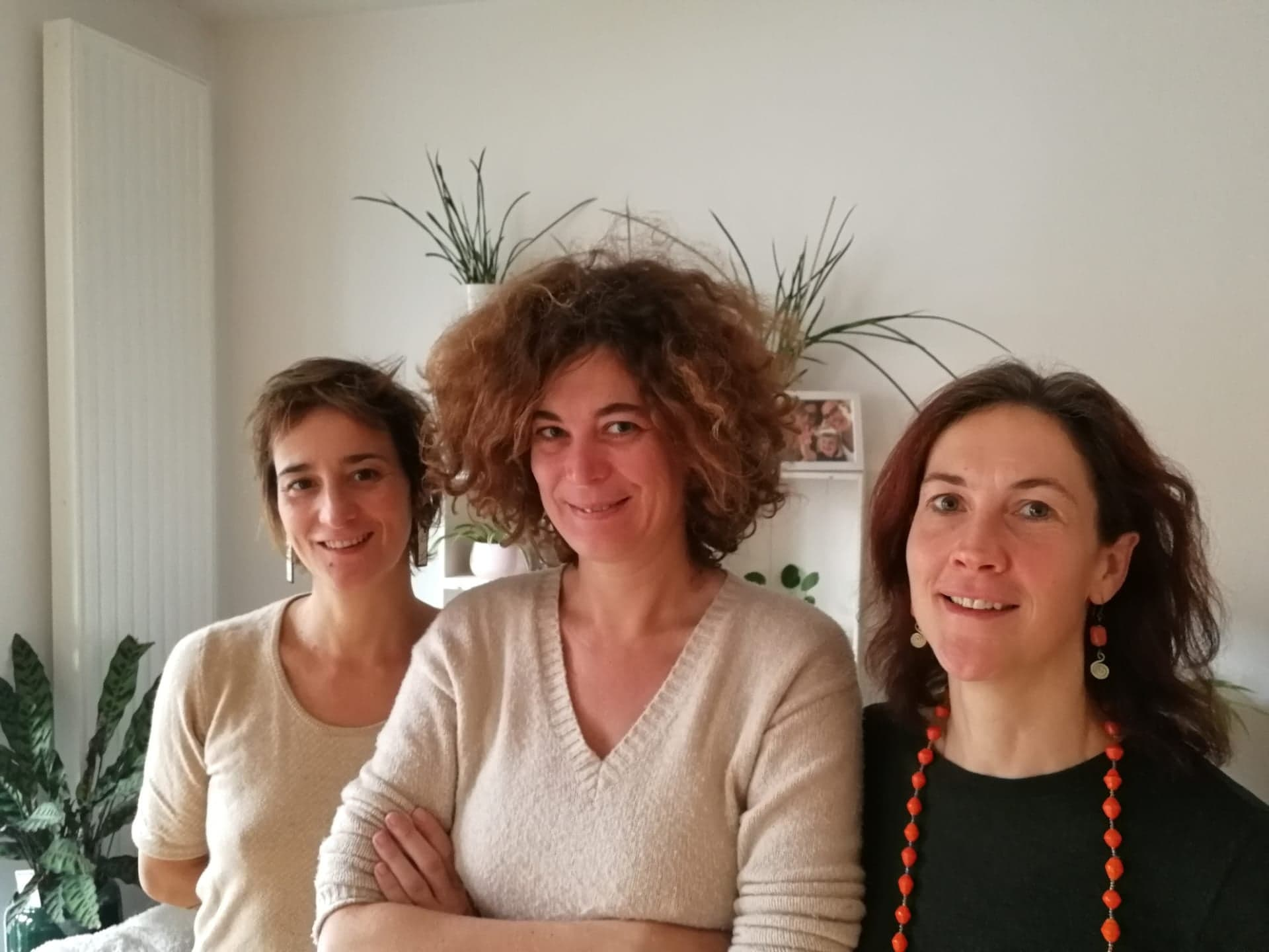 Team portrait of yoga in healthcare