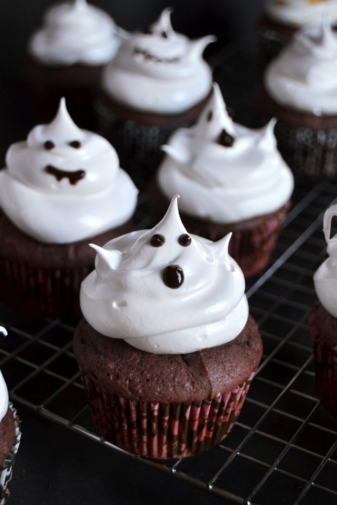 Purple Sweet Potato Cupcakes with Marshmallow Frosting