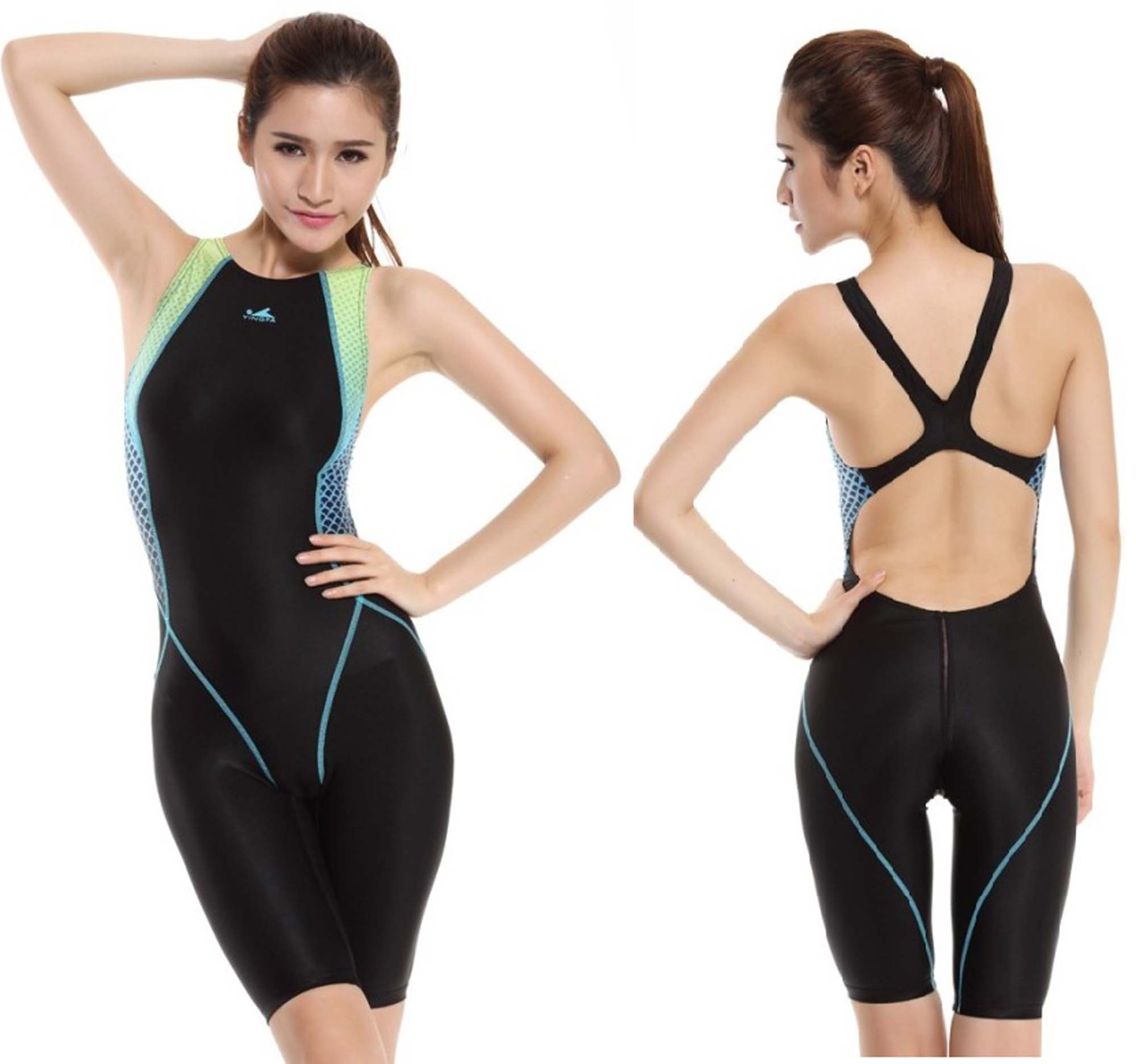 Kneeskin swimsuit women one piece swimsuit for racing and