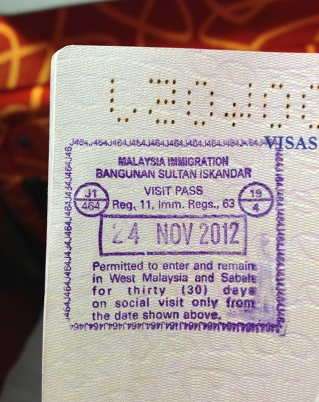 First Passport Stamp