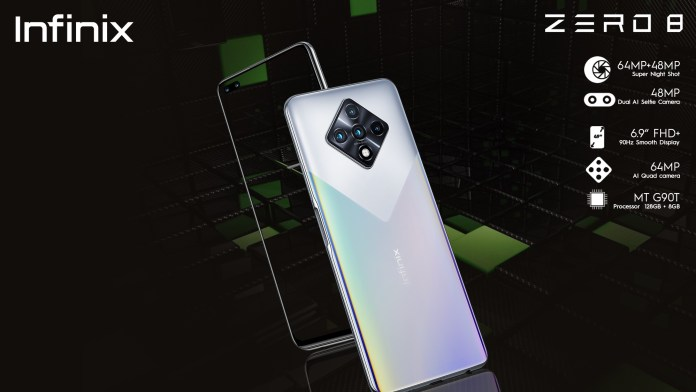 Infinix announces zero 8 as its flagship smartphone for 2020