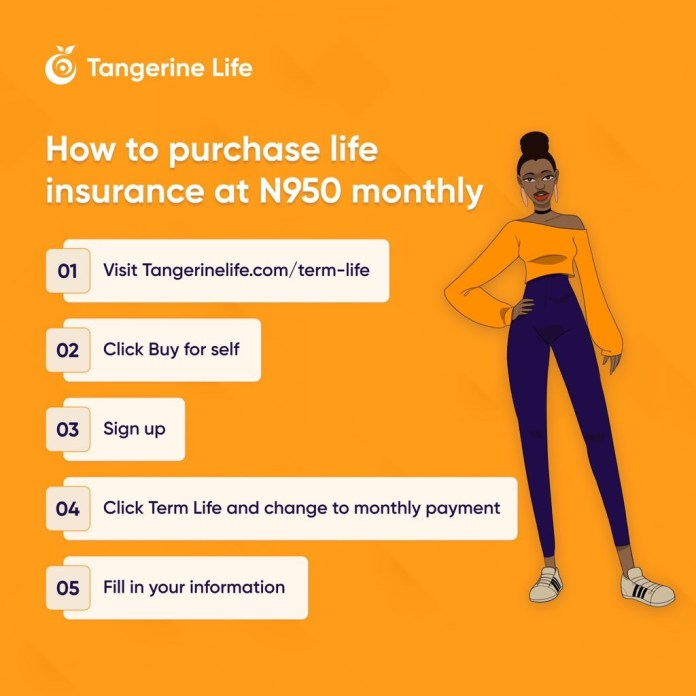 Tangerine Term life plan