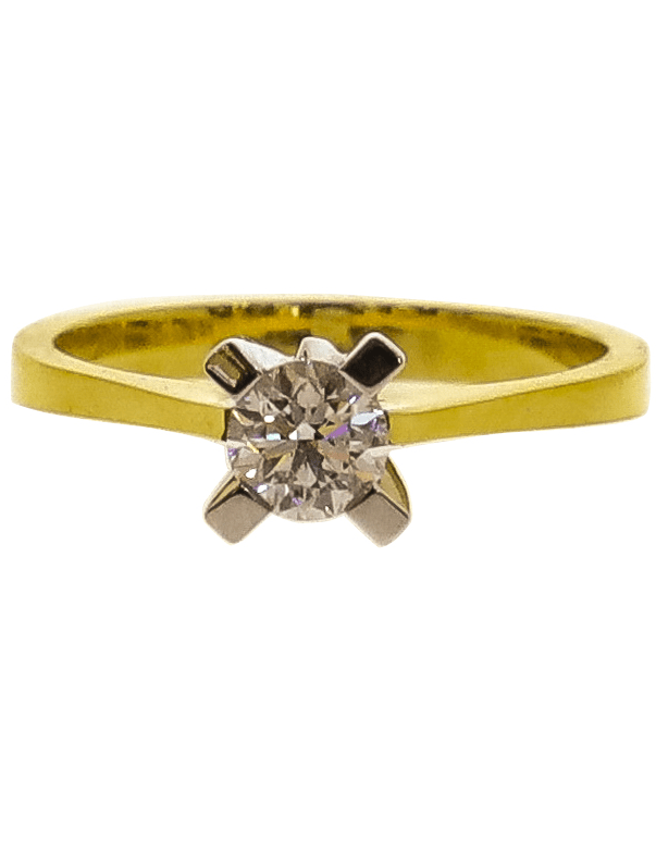 Diamond Solitaire Engagement YW Ring Image