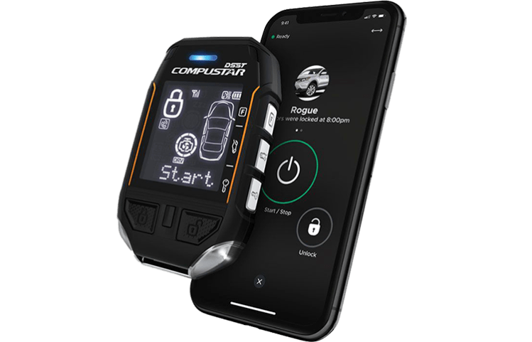 pro two way remote car starter with drone mobile app