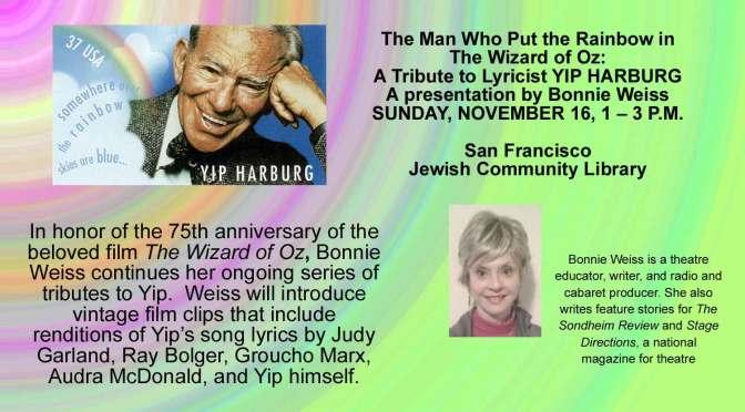 Nov. 16, 2014 Yip Harburg Tribute