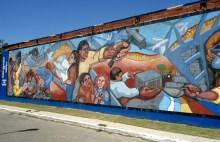 Barrio Mosconi de Ensenada , realizado por la Cooperativa Futuro Ensenadense. Fotografía: Agrupación Che´Guevara