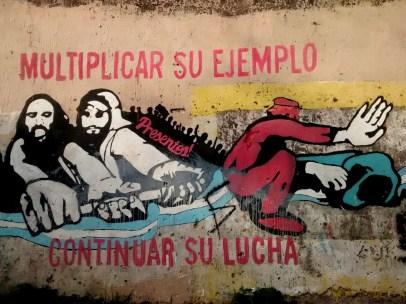 Ubicación: 2 y 170 / Autor: Frente Popular Darío Santillán / Fotografía: Leandro Romero