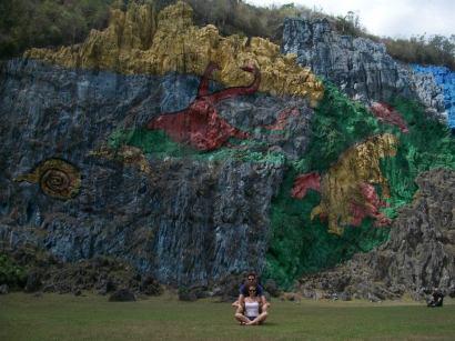 Mural de la Prehistoria (Valle de Dos Hermanas, mogote Pita) / Fotografía Guido y Fernanda