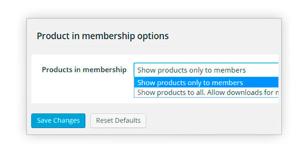 Products in membership