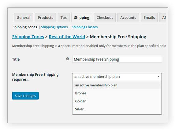 Free shipping for membership members