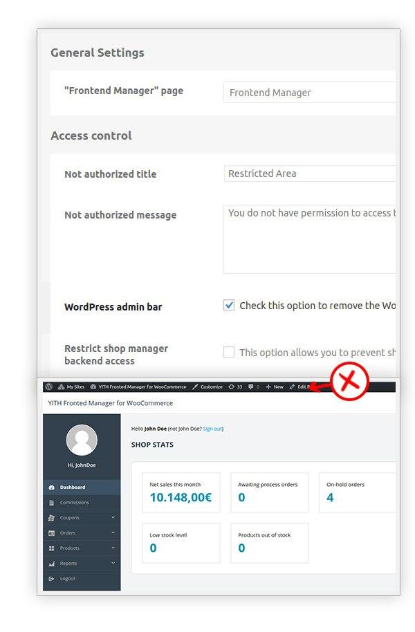 Hide wordpress admin bar